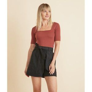 Marine Layer Small Karleigh Belted Shorts